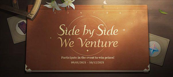 """Elkezdődött a """"Side by Side We Venture"""" webes esemény~ Utazz együtt visszatérő és új kalandorokkal, hogy nyereményeket szerezz!"""