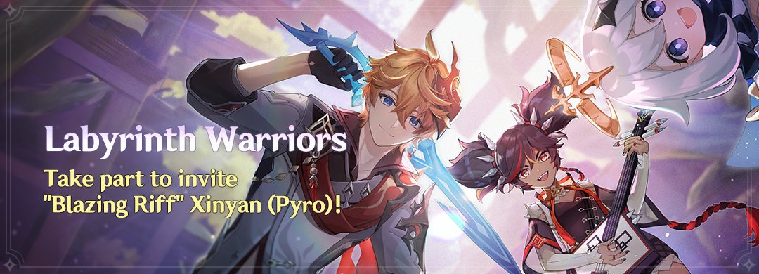 """""""Labyrinth Warriors"""" Esemény: Vegyél részt, hogy megszerezhesd """"Blazing Riff"""" Xinyan (Pyro) karaktert!"""
