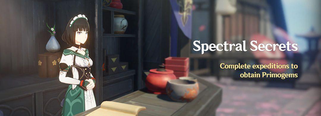 """""""Spectral Secrets"""" Esemény: Teljesítsd az expedíciókat és szerezz Primogemeket"""
