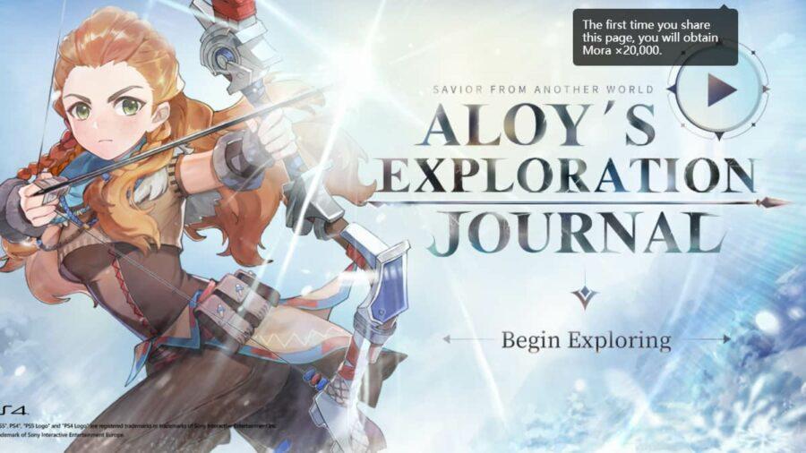 """Elkezdődött az """"Aloy's Exploration Journal"""" webes esemény, fedezd fel Teyvat földjét Aloy-jal együtt, hogy jutalmakat szerezzhess!"""